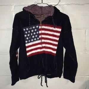 Sweaters - vintage american flag hoodie